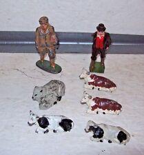 Vintage Lead Figures, 2 Men 1 Ram, 4 Calves