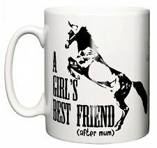 """Taza de caballos """"el mejor amigo de una chica.. me encantan los caballos"""" Regalo Divertido Taza Equitación"""