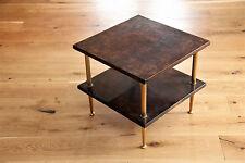 60er Aldo Tura MILANO ITALY Table d'appoint Table goatskin