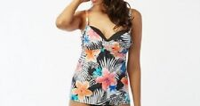 Coco Reef Tankini Top Sz 36/38 D Cup Cast Black Multi Diva Power Tank U08122
