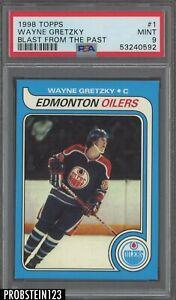 1988 Topps Hockey Blast From The Past #1 Wayne Gretzky HOF PSA 9 MINT
