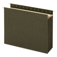 Universal 14160 10box Letter 11 Pt Stock Hanging Bttm File Pockets Green New