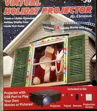 Mr. Christmas Indoor Virtual Holiday Projector Christmas animated Window Decor