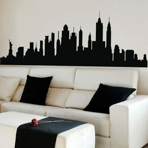 New York City Skyline Wall Sticker Silhouette Vinyl Decor Art Decal Removable