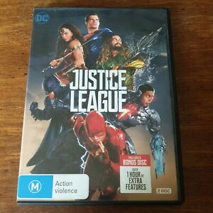 Justice League DVD R4 Like New! FREE POST