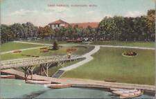 Postcard Lake Harbor Muskegon MI Michigan