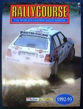RALLYCOURSE 1992-1993 ANNUAL 11th edition MOTORSPORT WRC CAR BOOK