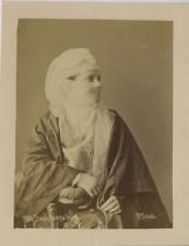 Sébah. Turquie, Dame turque voilée  Vintage albumen print, Turkey  Tirage albu