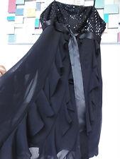 3Suisses Kleid schulterfrei schwarz Kommunion Jugendweihe Abendkleid Gr.44   S25