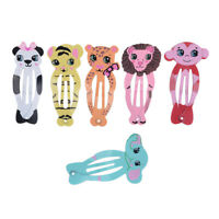6pcs Animal Cartoon Hair Clip Barrettes Pin for Girls Toddlers Teens Jewelry