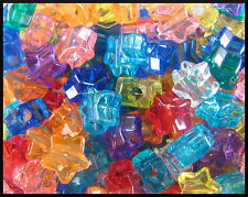 """50 Star Pony Beads Translucent 1/2"""" 13mm Beautiful Colors! ABCraft Made in USA"""