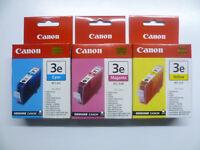 3 x Canon BCI-3 C M Y Set S820 S820D S830D S900 S9000