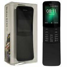 """New 2.4"""" Nokia 8110 4G (2018) Black 4GB Dual-SIM Factory Unlocked 4G SIM-Free"""