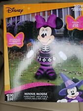 Disney 3.5ft Lighted Minnie Mouse Halloween Inflatable Airblown LED Skeleton