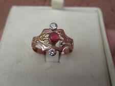 anello borbonico autentico in oro  e gemme