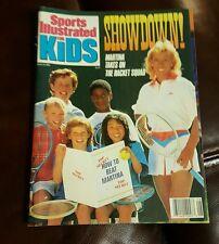 Martina Navratilova SPORTS ILLUSTRATED FOR KIDS 1990 w cards & JERRY RICE Poster
