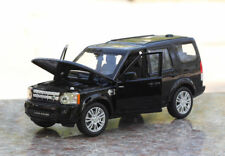 Land Rover Discovery Model Cars 1:24 Alloy Diecast Gift Front Steering Toy Black