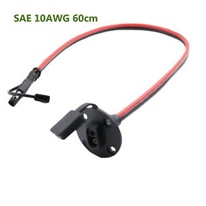 1x SAE To 2 Pin Connect Power Automotive Weatherproof Solar Panel Cable 10AWG