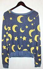 RARE Wildfox sweatshirt moon stars baggy jumper navy pullover top. Size: Small