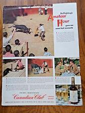 1952 Canadian Club Ad Bulfighting in Lisbon's Praca de Touros