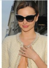 AUTH NEW GORGEOUS CHANEL 6040-H CAT EYE WHITE PEARL SUNGLASSES