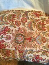 Ralph Lauren Home Jardiniere Euro Pillow Sham Brown Paisley Gold Italy Vguc