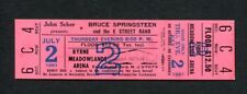 Bruce Springsteen 1981 The River Tour Unused Concert Ticket Meadowlands NJ 7/2