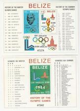 Belize, Postage Stamp, #561a-b Mint NH Sheets, 1981 Olympics, JFZ