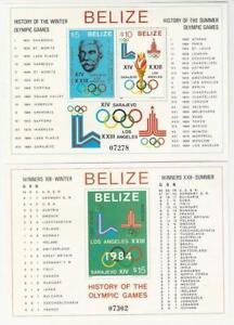 Belize, Postage Stamp, #561a-b Mint NH Sheets, 1981 Olympics, JFZ