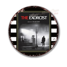 """THE EXORCIST   film movie  12"""" round circular  shaped metal tin sign"""