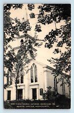 Brewster, Cape Cod, MA - c1950s PRETTY VIEW OF FIRST PARISH CHURCH - POSTCARD T1
