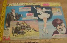 Sonja Henie Walter Brennan Seein' Stars Feg Murray Sunday 1940s color panel 7c