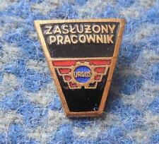 URSUS POLAND TRACTOR MANUFACTURE 1980's MERITORIOUS WORKER SMALL RARE PIN BADGE