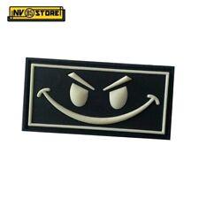 Patch in PVC Evil Smile 6,3 x 3,3 cm Militare Softair Velcrata Nero-Grigio