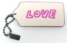 "Coach Keith Haring ""LOVE"" Hang Tag Bag Charm Key Fob NWT $35 Off White"