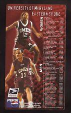 Maryland Eastern Shore Hawks--2001-02 Basketball Magnet Schedule