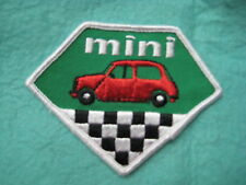 "Vintage Mini Cooper Racing Dealer Service Patch  4"" X 3"""