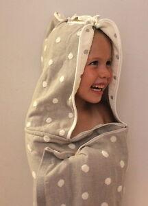 Eco Baby (Cape Style) Hooded Towel & Burp Cloth - 100% Organic Cotton & Dye