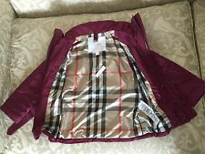 $695 NWT Burberry LOGO MINI Balesbrook 3-in-1 Down Trench Jacket 6Y NOVA Plaid