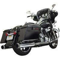 """Harley Bassani Escape Qnt Slip-On Silenciadores Cromo 4"""" Touring 95-16"""