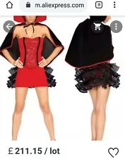 Haloween Fancy Dress vampire Cape costume vampiress corset goth witch outfit xs