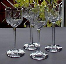 4 antike Bleikristall Weingläser, handgeschliffen um 1910