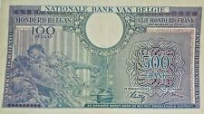 500 Francs 100 Belgas 1943 500 Frank 100 Belga Belgïe Belgium : Choose Serial !