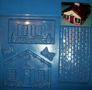3 DIMENSIONAL HOUSE CLEAR PLASTIC CHRISTMAS CHOCOLATE MOULD - NEW