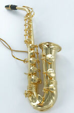 Realistic Miniature Saxophone Christmas Tree Ornament, Metal, NEW Music Sax Gift