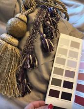 "Beautiful Heavy fleece Interlined Curtains Grey Purple 47""w x 88""d per curtain"