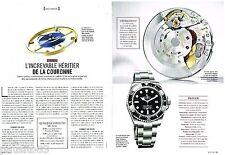 PUBLICITE ADVERTISING 0105  2014  ROLEX  montre SEADWELLER 3135   (2p)