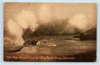 Santa Cruz, CA - EARLY VIEW OF HIGH WAVES AT VUE DE L'EAU - POSTCARD