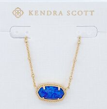 NEW Authentic KENDRA SCOTT Elisa Satellite Gold 564 Indigo Pendant Necklace
