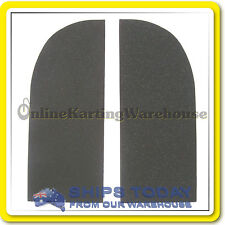 GO KART SEAT PADDING HIGH DENSITY RUBBER 2 PIECE SELF ADHESIVE CUSHION PAD SET